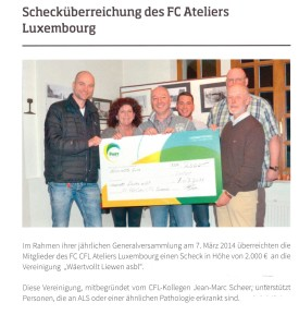 Scheckiwerreeschung beim FC Ateliers Luxembourg 001